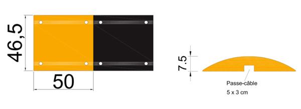 Dimensions ralentisseur 75mm module central