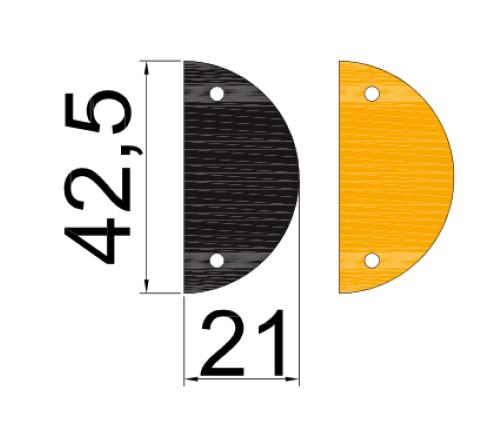 dimensions module extremités ralentisseur hauteur : 50mm