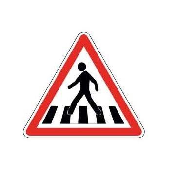 Panneau de danger passage piéton A13b