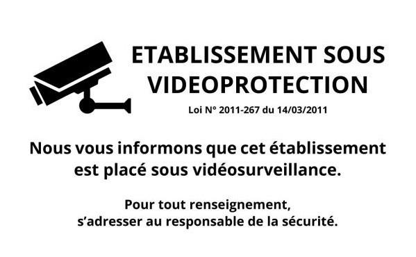 Panneau d'information sur la vidéoprotection